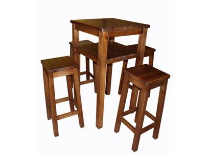 Gosantos fabrica de sillas de madera mesas taburetes for Mesas altas de bar de madera
